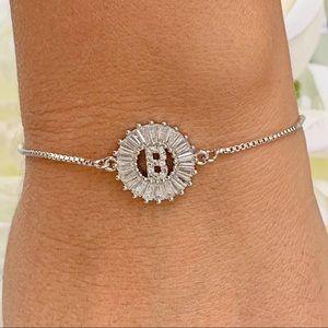 Jewelry - Cubic Zirconia Letter B Charm Bracelet.